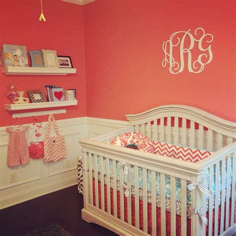 annsley s coral grey and aqua nursery nursery colors chairs and paint
