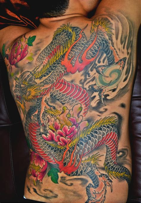 dragon tattoo back awesome back best design ideas