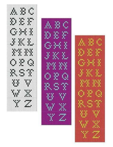 beaded letters pattern bead loom alphabet 3 all letters bracelet pattern chart