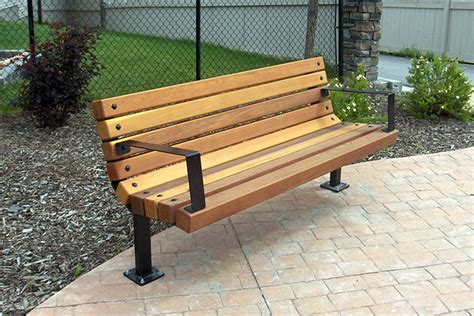 wooden park bench plans series b benches custom park leisure
