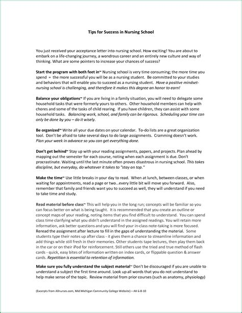 Nursing School Admission Letter formal letter format for school admission exles and forms