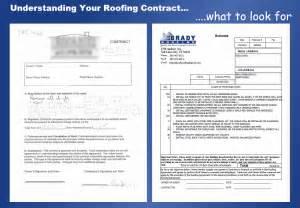 roofing contract template understanding your roofing contract brady roofing