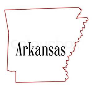 Arkansas State Outline Map by State Map Outline Of Arkansas A White Background Vector Colourbox