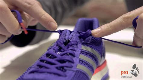 how to tie shoes for running how to tie a heel lock racer s loop for a running shoe