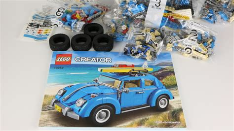 lego creator volkswagen beetle unboxing  youtube