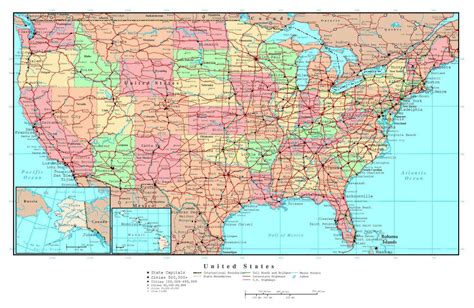 map usa big cities large detailed political and administrative map of the usa
