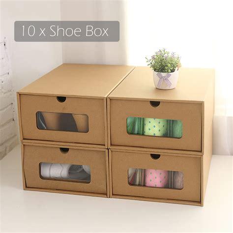 cardboard shoe storage 10 foldable cardboard shoe boxes organiser drawer