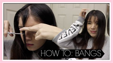 how to cut bangs fringe at home