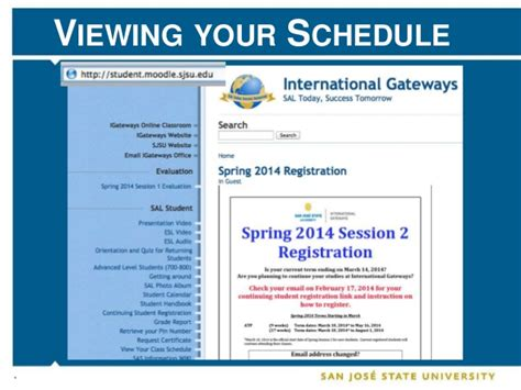 Mba Sjsu Schedule by Summer 2014 International Gateways New Student Orientation