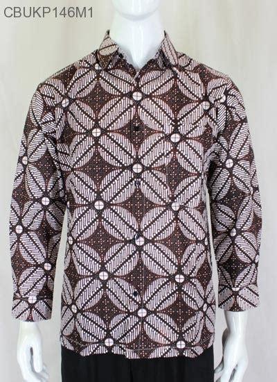 Kemeja Batik Kawung Grompol Printing Lengan Panjang baju batik kemeja panjang kawung kemeja lengan panjang