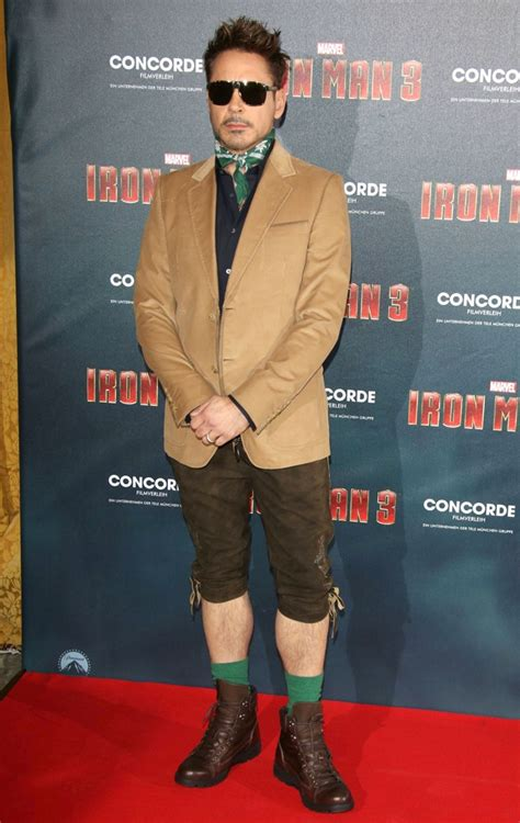 Robert Downey Jr Wardrobe by Robert Downey Jr Sports Lederhosen At Iron 3 German