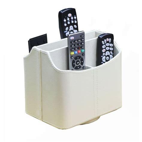 white spinning tv remote caddy organizer storage