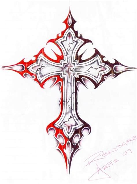 badass cross tattoo designs how to draw a cross step by step
