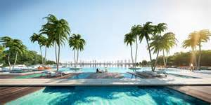 Florida House Plans With Pool the harbour miami beach a new luxury condo on the water