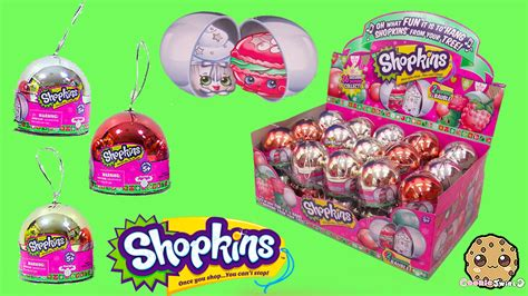 Shopkins Ornaments Blind Pack box of shopkins metallic baubles blind