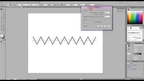 Illustrator Draw Zigzag | how to create a zig zag and curvy line in illustrator