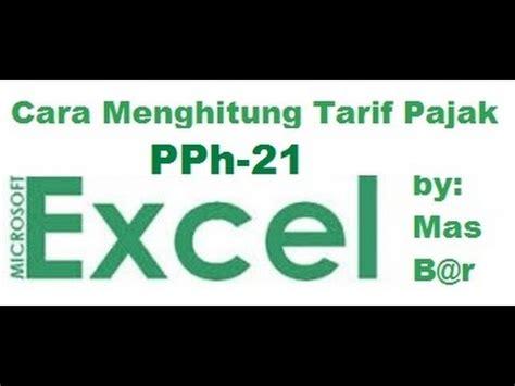 cara hitung pajak tangsel 2016 cara menghitung tarif pajak penghasilan pph 21 dengan