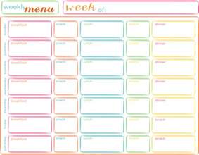 Blank Weekly Menu Template by Menu Planner Template Out Of Darkness