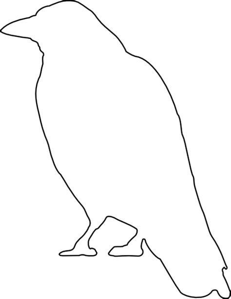 crow outline clip art at clker com vector clip art