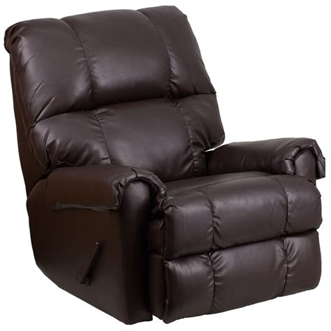 leather recliner contemporary contemporary ty chocolate leather rocker recliner