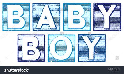Letter For Boy Baby Boy Written Blue Vintage Rubber Stock Illustration 19420498