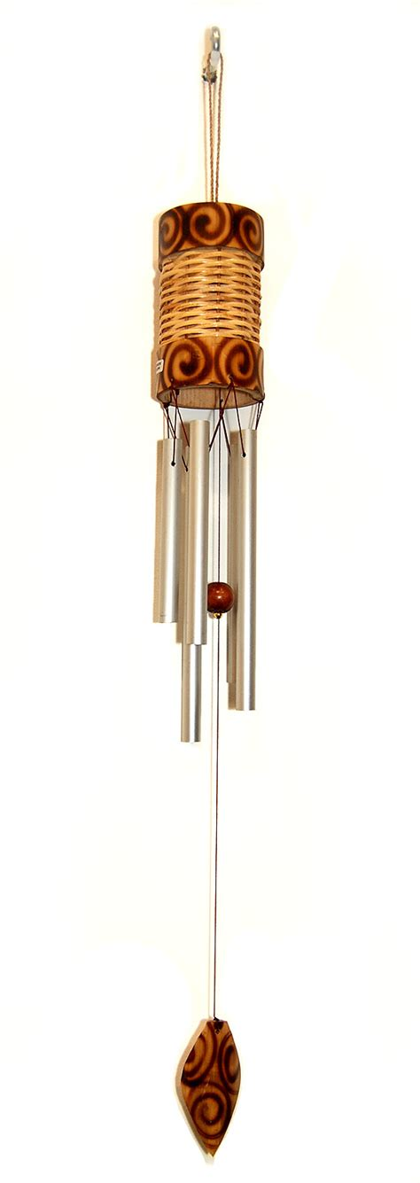 Handmade Wind Chimes - handmade handpainted bamboo ratan wind chimes home