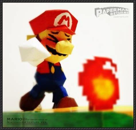 Mario Kart Papercraft - mario bros mario free papercraft