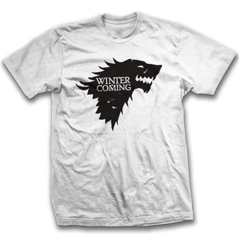 Tshirt Winter Is Coming Stark house stark winter is coming t shirt of thrones