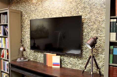 custom wall mosaic tile redo living room ideas tiling