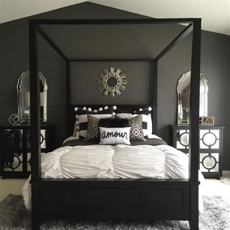 black and gray bedroom ideas oltre 1000 idee su pareti nere camera da letto su
