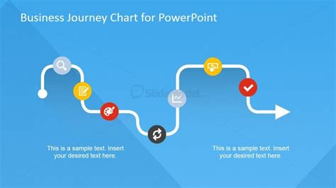 powerpoint templates for journey business journey chart with flat icons slidemodel