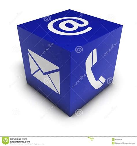 Contact Cube contact us web icon cube stock illustration image of