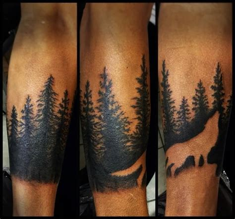 forest tattoos 40 made forest design ideas golfian