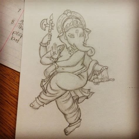 pencil drawing ganesha cute drawingsketching
