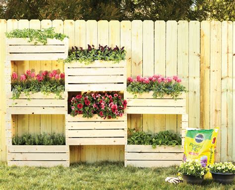 Vertical Garden Planters by Vertical Planter Diy Home Depot Garden Project