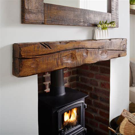 oak mantel shelf reclaimed distressed rustic solid beam