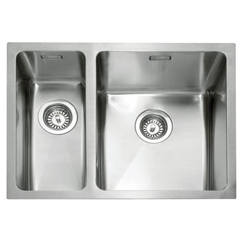 stainless steel kitchen sinks uk caple mode 150 stainless steel inset or undermount sink