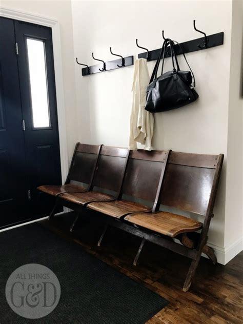 entryway antique church bench   gd