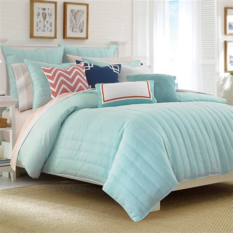 Aqua Comforter Set by Mainsail Aqua Comforter Set From Beddingstyle