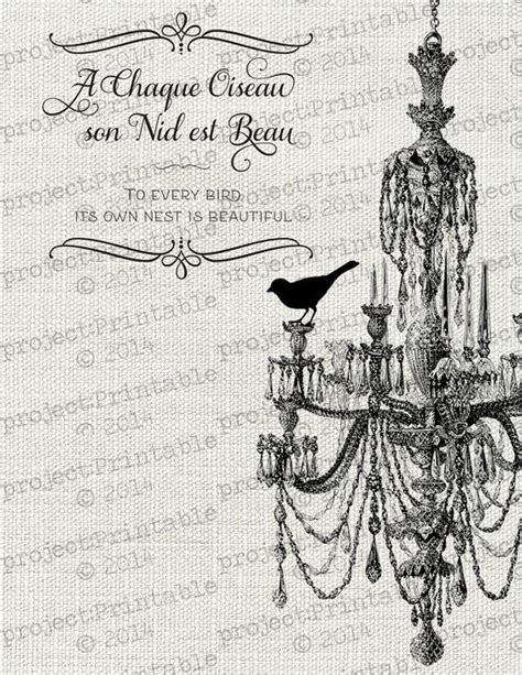 printable transfer quotes bird on chandelier home nest quote printable instant