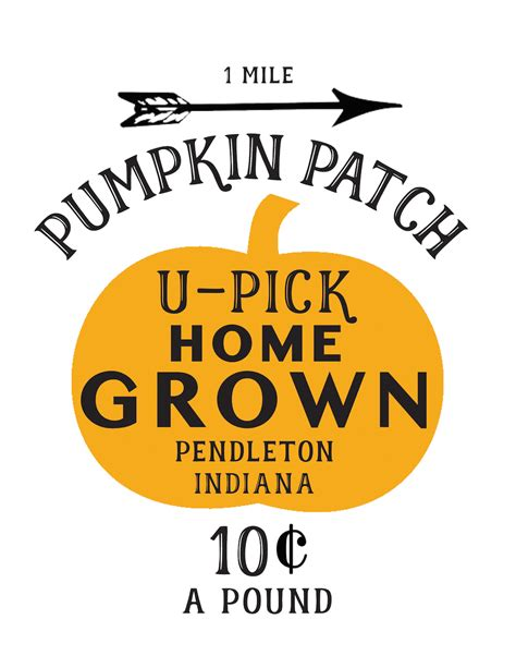 Printable Pumpkin Patch Signs pumpkin patch printable transferring an image to wood