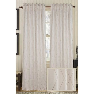 ivory cotton curtains fine living diamond dots linen and cotton ivory rod pocket