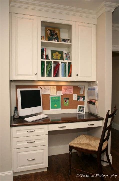desk with cabinets above built in desk nooks and kitchen desks on pinterest