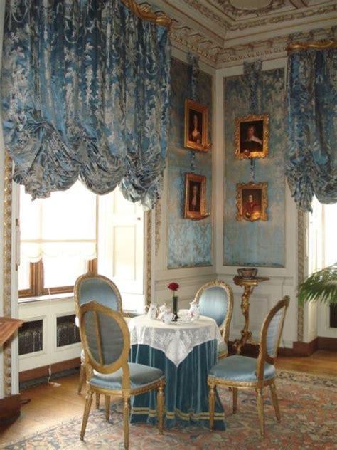 blaue gardinen barock esszimmer einrichten 60 vorschl 228 ge
