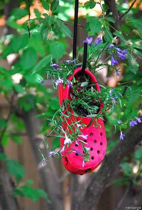 ways to recycle shoes for planters recycled things