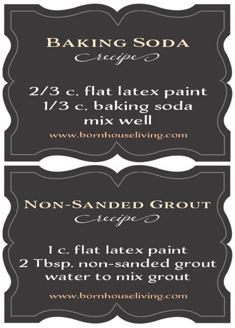 Chalk Paint Recipes Baking Soda Or Non Sanded
