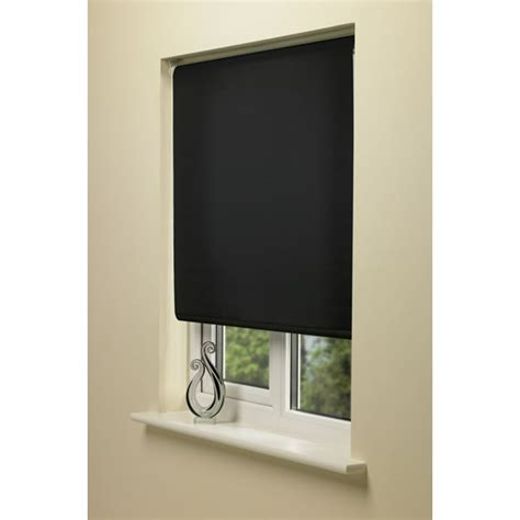 jalousien verdunkelung wilko blackout roller blind black 180cm wide x 160cm drop