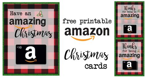 printable christmas gift card holders  amazon paper trail design
