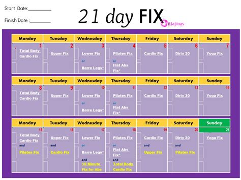 21 day fix template printable 11 x 17 calendar calendar template 2016