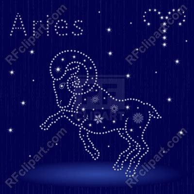 zodiac sign aries  stylized stars  snowflakes